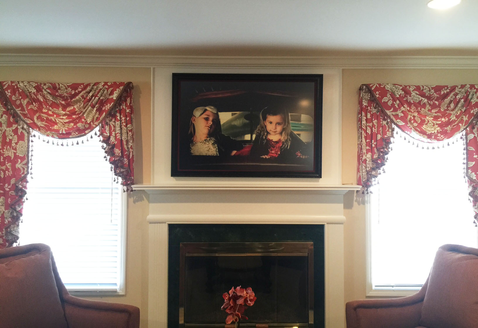 fireplace art