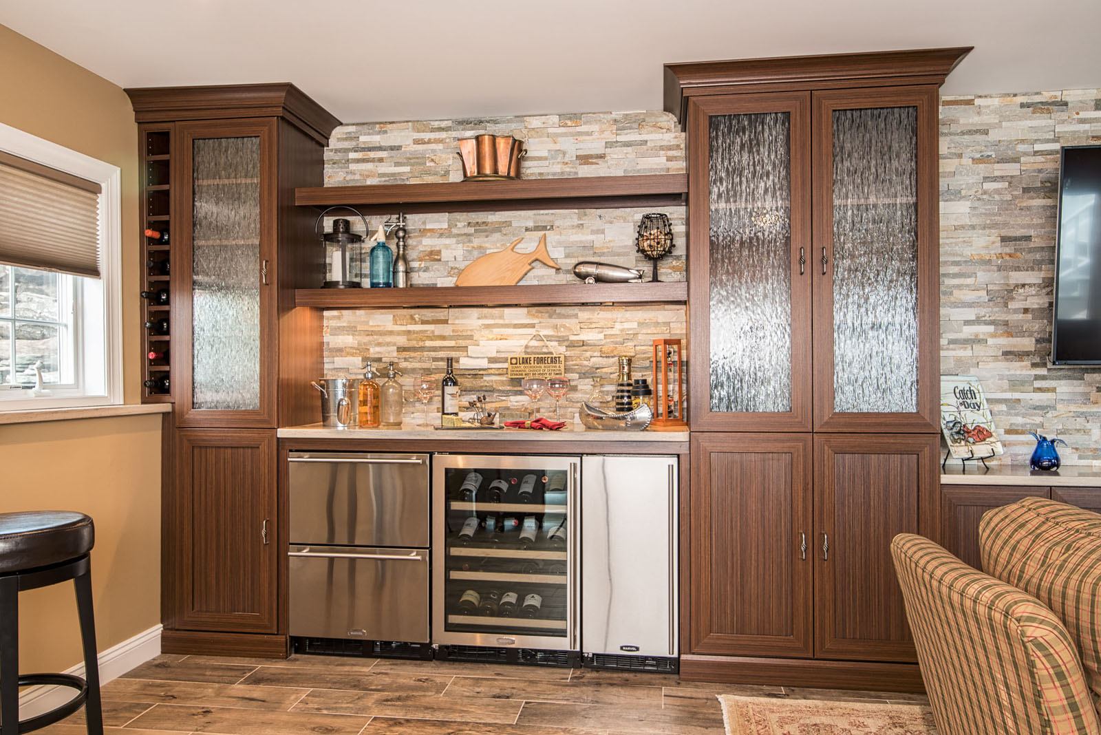 interior design family room Bar by artistry interiors