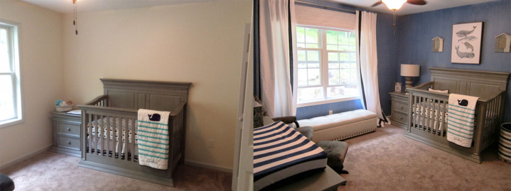 before and after little Jacksons room